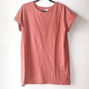coral t-shirt dress   H&M